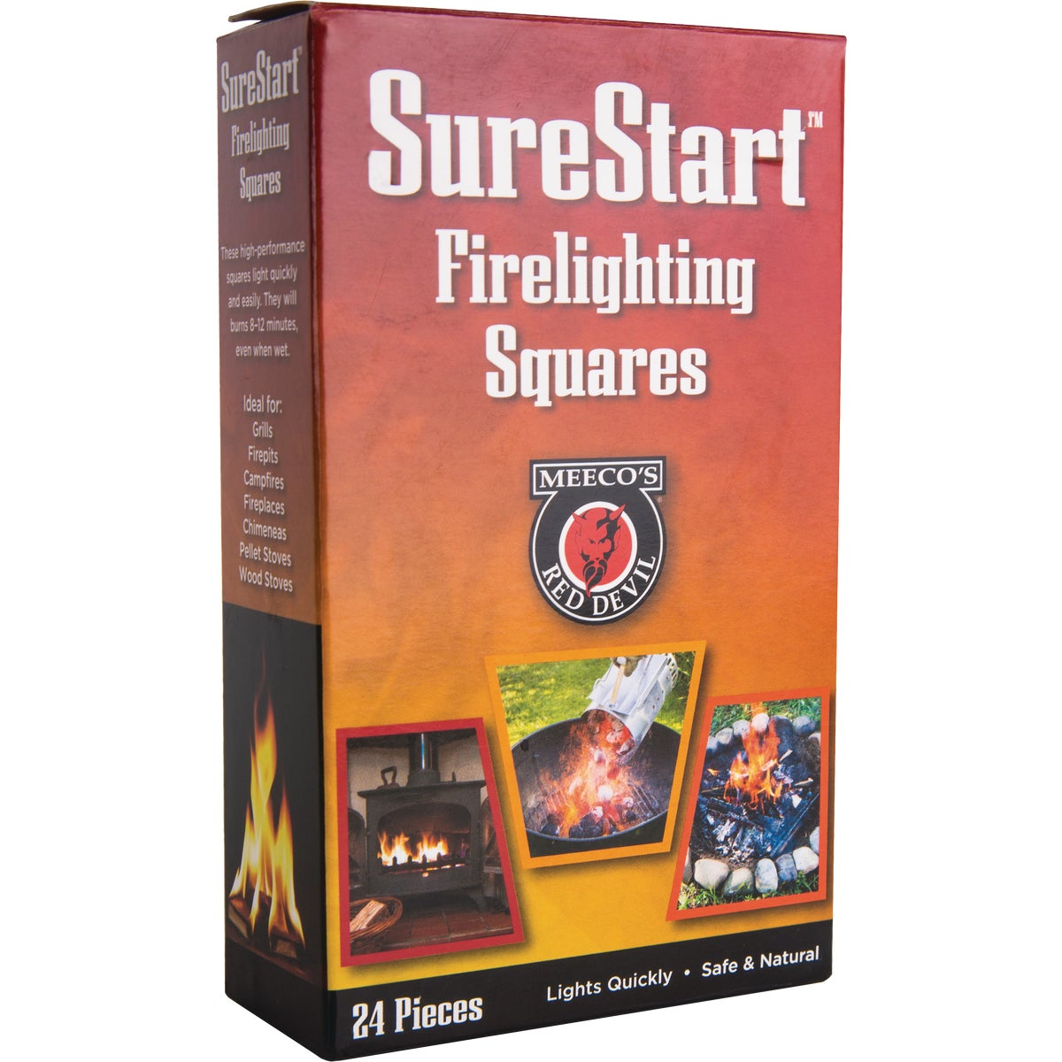 24PK SQS FIRE STARTER - 418 by Meeco Mfg