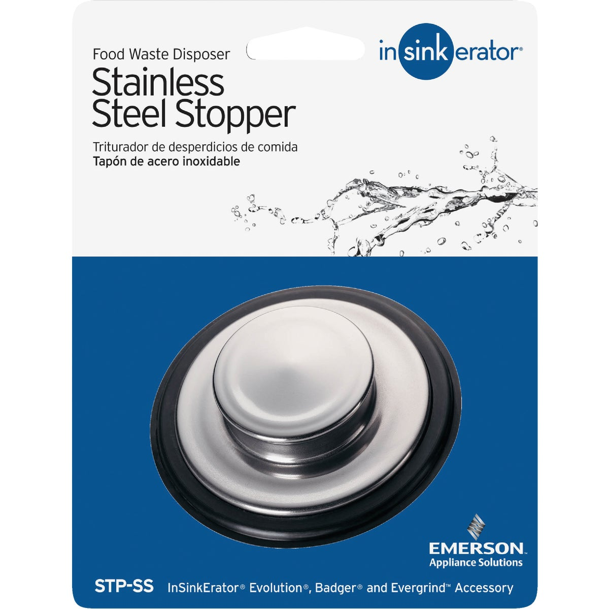 STAINLESS STEEL STOPPER - STP-SS by Insinkerator Evergrd