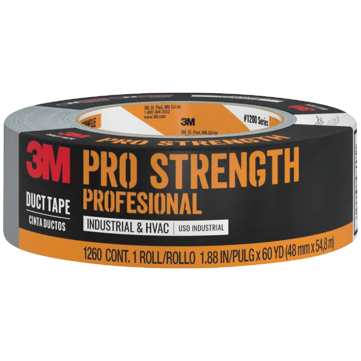 3M 48MMX60YD GRAY DUCT TAPE 1260-A