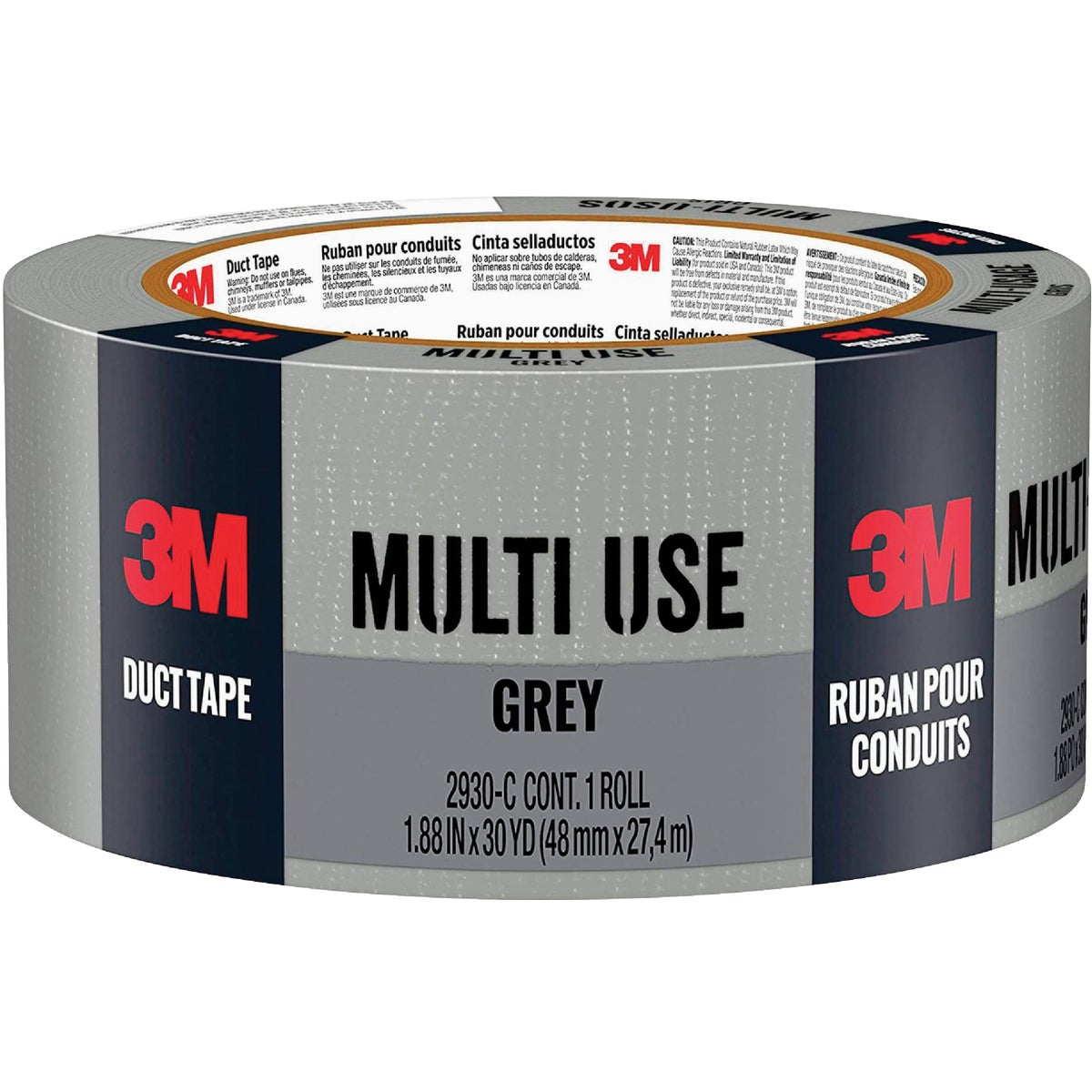 48MMX30YD GRAY DUCT TAPE - 1130-A by 3m Co