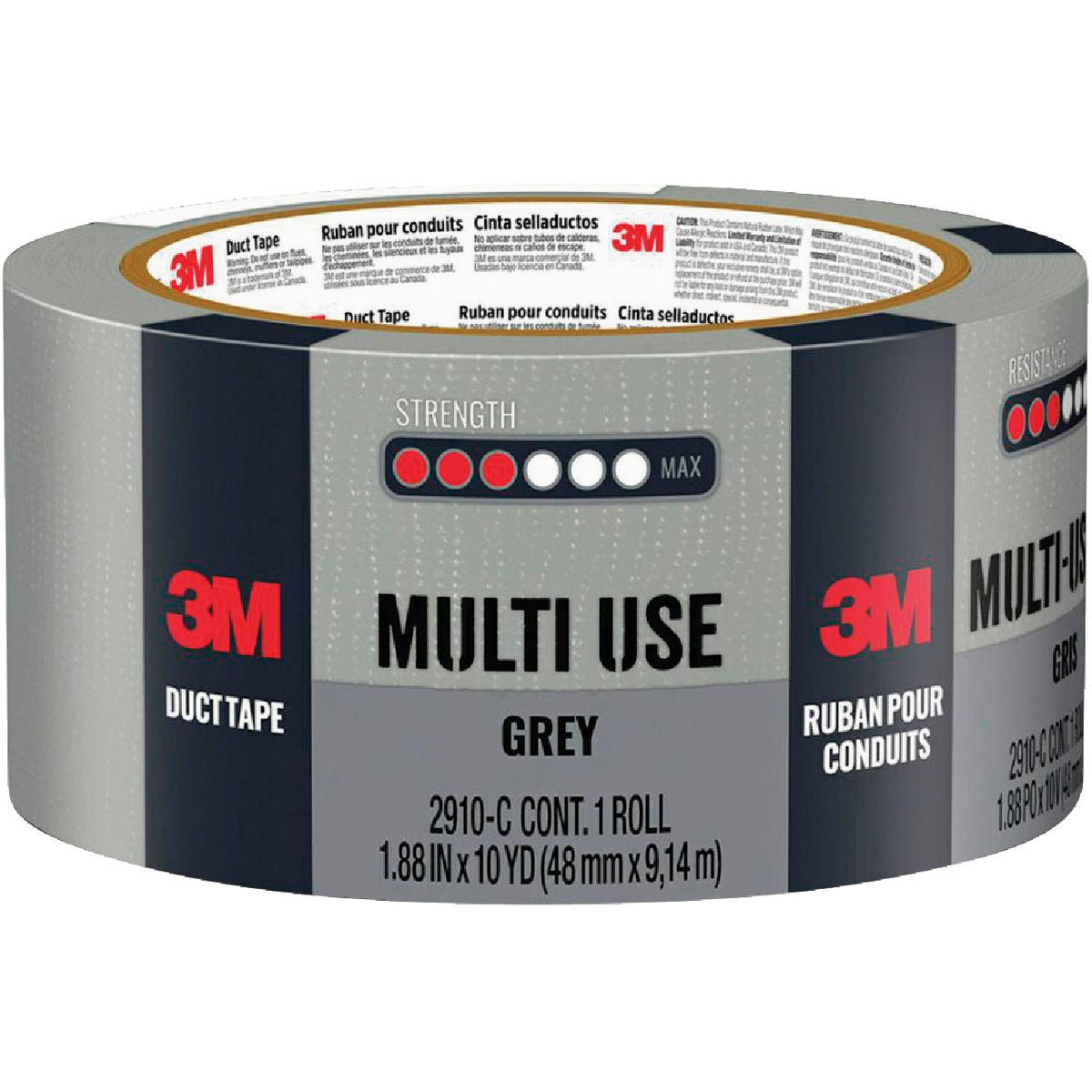 3M 48MMX10YD GRAY DUCT TAPE 1110-A