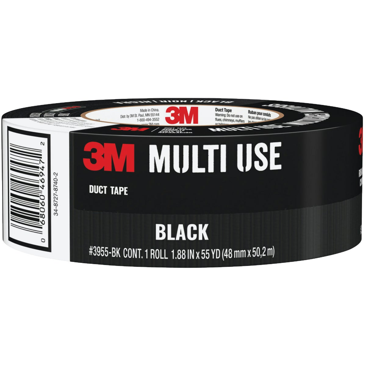 "1.88""X60YD BLK DUCT TAPE - 1060-BLK-A by 3m Co"