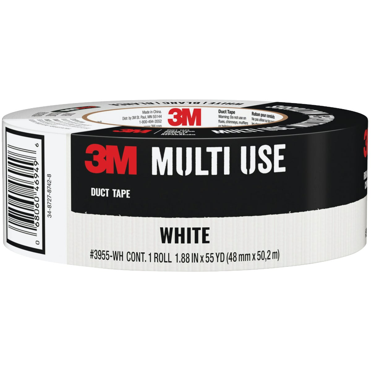 "1.88""X60YD WHT DUCT TAPE - 1060-WHT-A by 3m Co"