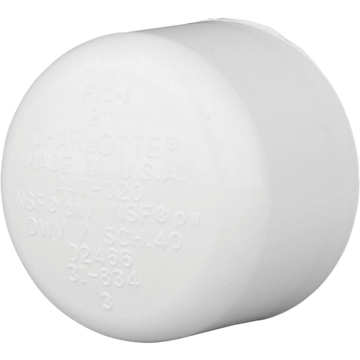 "2"" PVC SCH40 SLIP CAP - 30152 by Genova Inc"