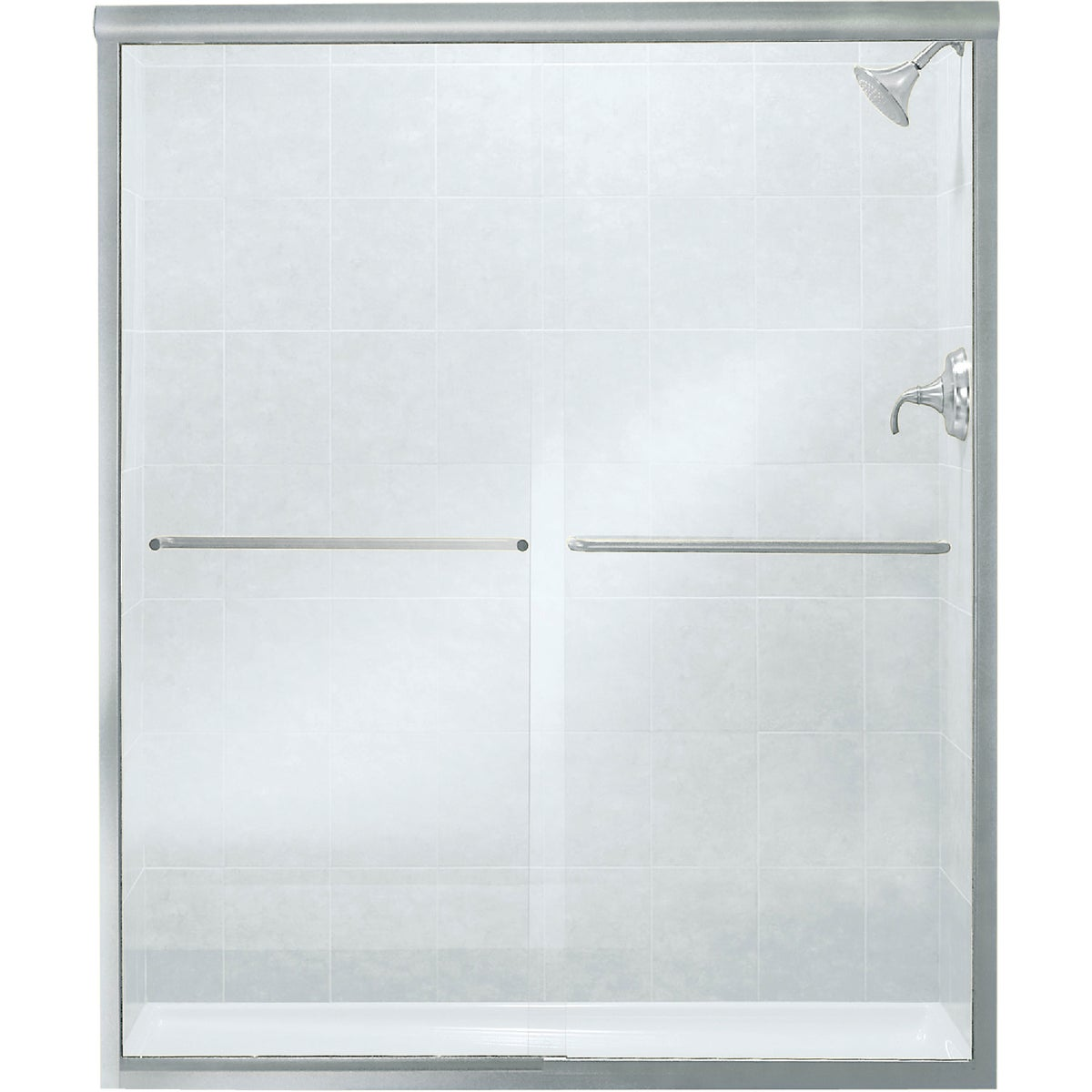 Sterling SILVER BY-PASS TUB DOOR 5475-59S-G05