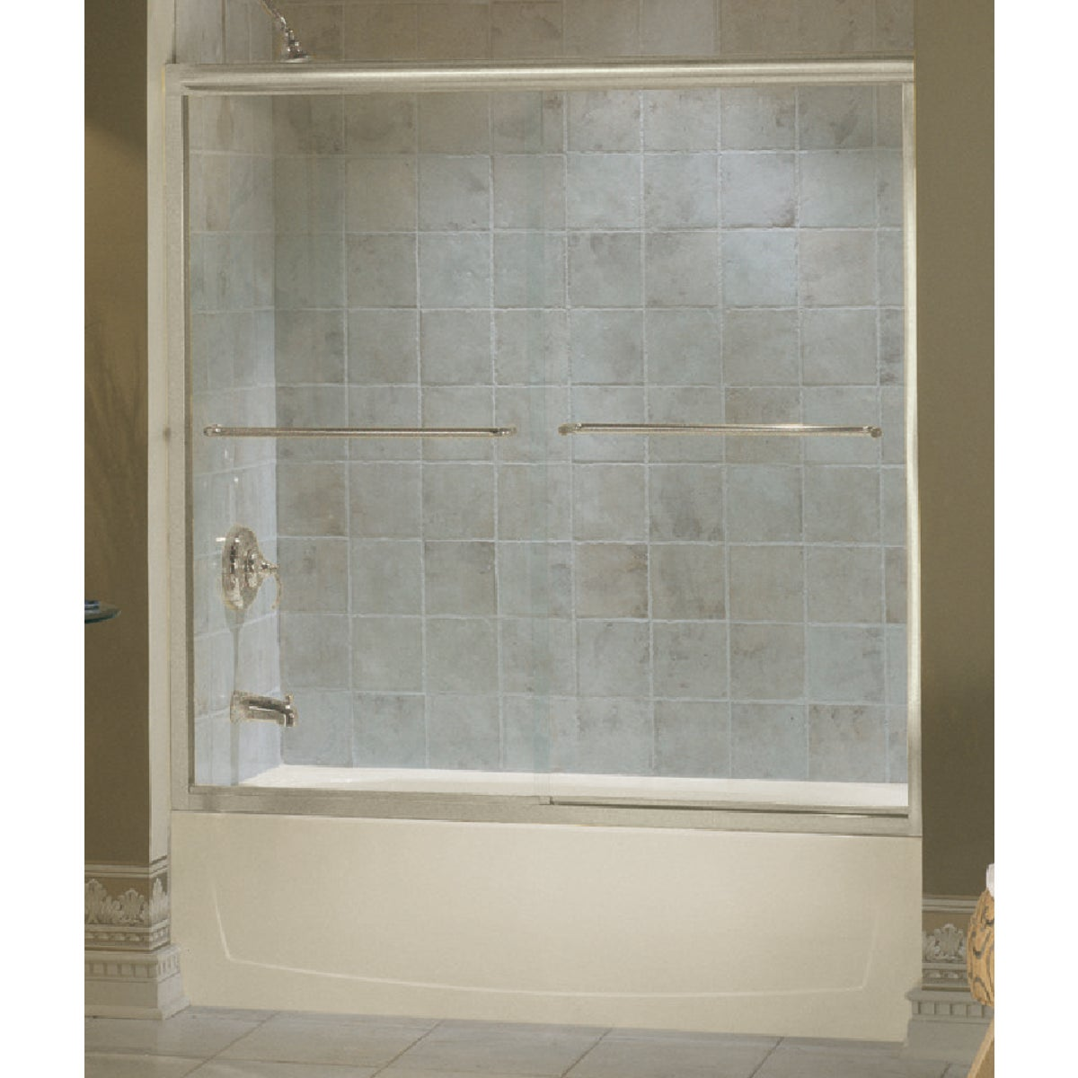 54-5/8-59-5/8 NKL TUB DR - 5425-59N-G05 by Sterling Doors