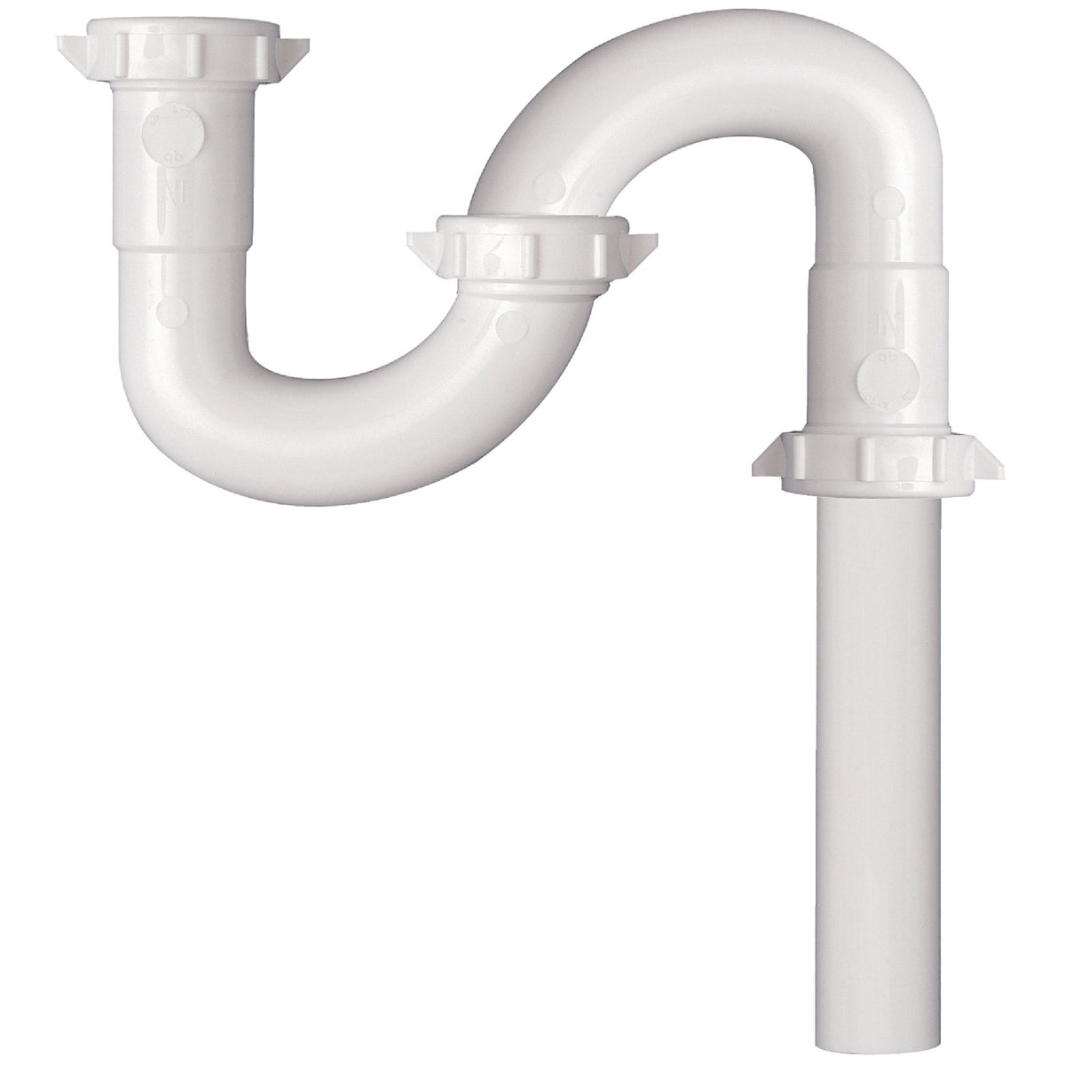 1-1/4 WHT PLASTIC S-TRAP - 443824 by Plumb Pak/keeney Mfg