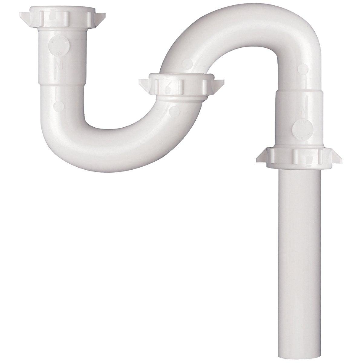 Plumb Pak/Keeney Mfg. 1-1/4 WHT PLASTIC S-TRAP 443824