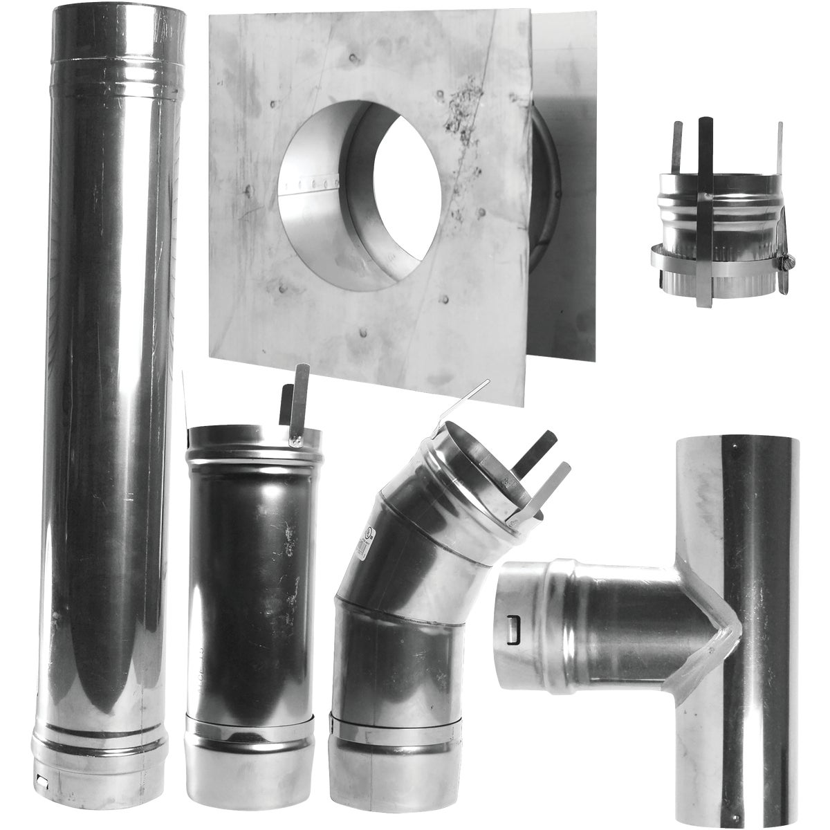 SS HORIZONTAL VENT KIT - F102860 by Mr Heater Corp