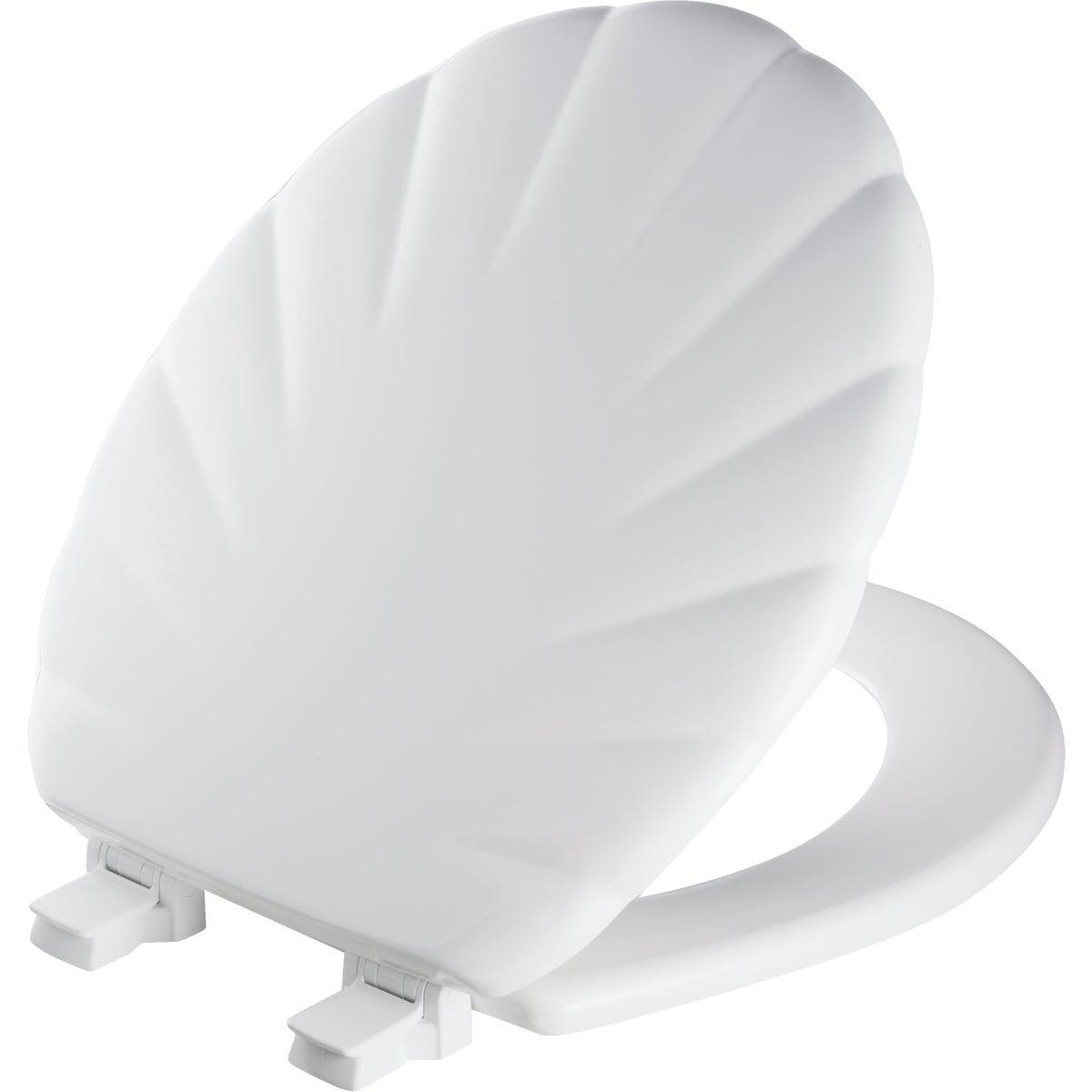 WHITE WOOD RND SHEL SEAT