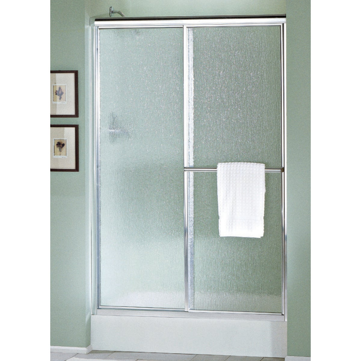 NICKEL/RAIN SHOWER DOOR - 5975-48N-G06 by Sterling Doors