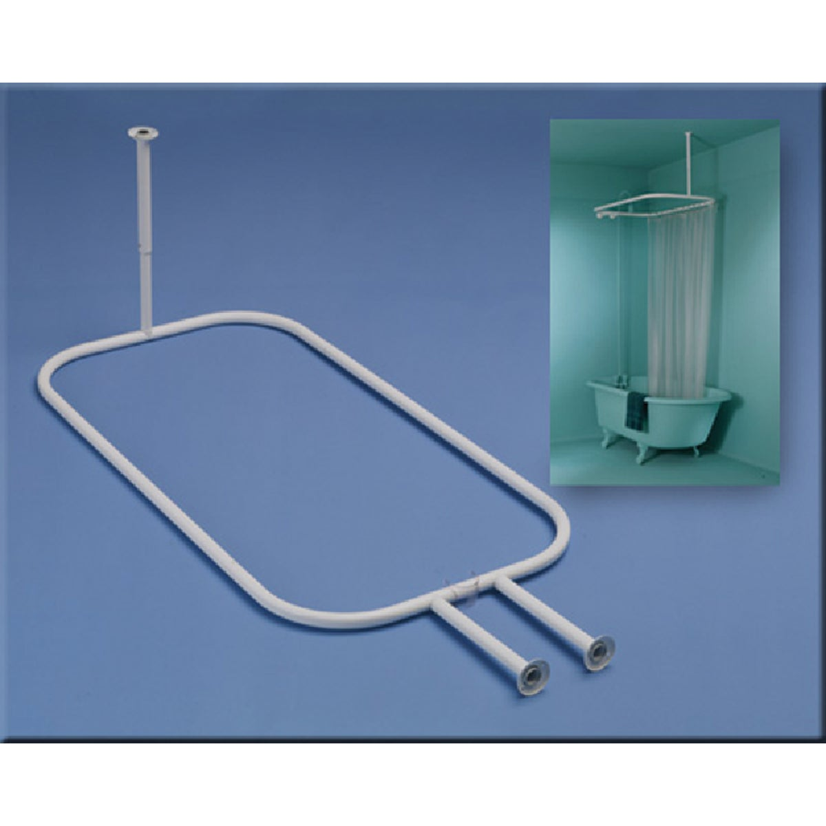 WHT HOOP SHOWER ROD - 34941 by Zenith Prod Corp