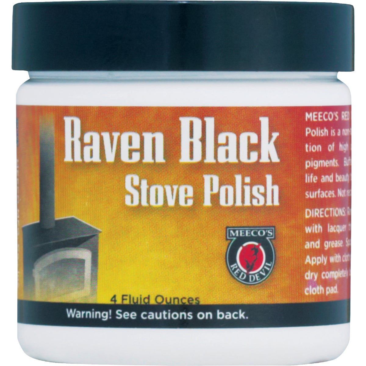 4OZ PASTE STOVE POLISH - 402 by Meeco Mfg