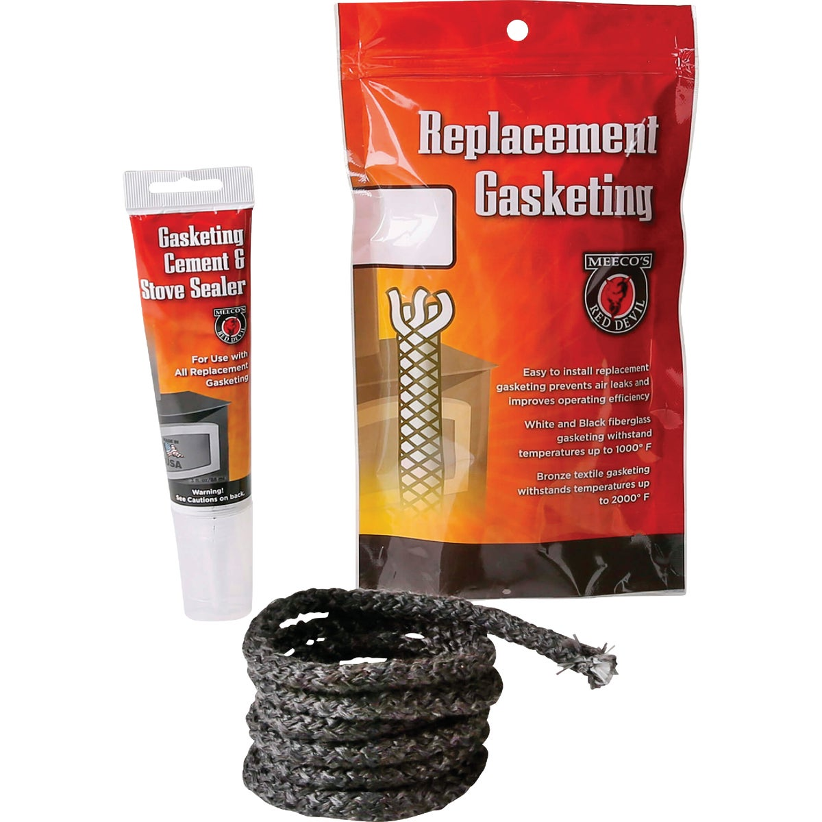 "1/2""X6' GASKET ROPE KIT - 203BK by Meeco Mfg"