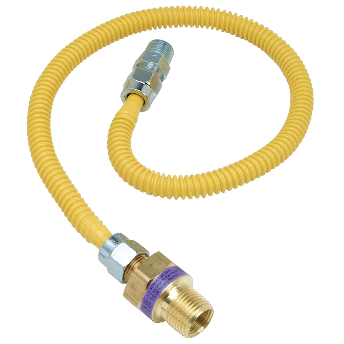 1/2X3/8-24 GAS CONNECTOR - CSSL47E-24P by Brass Craft