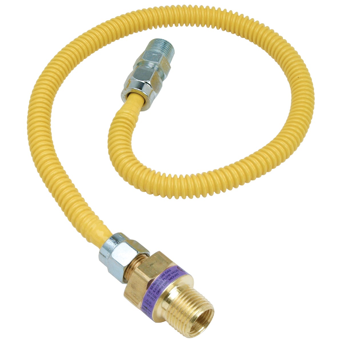 1/2X3/8-36 GAS CONNECTOR - CSSL47E-36P by Brass Craft