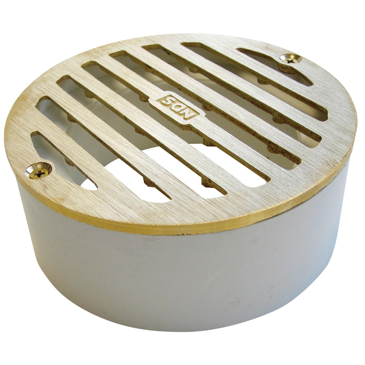 "4"" RND SATIN BRASS GRATE - 910B by National Diversified"