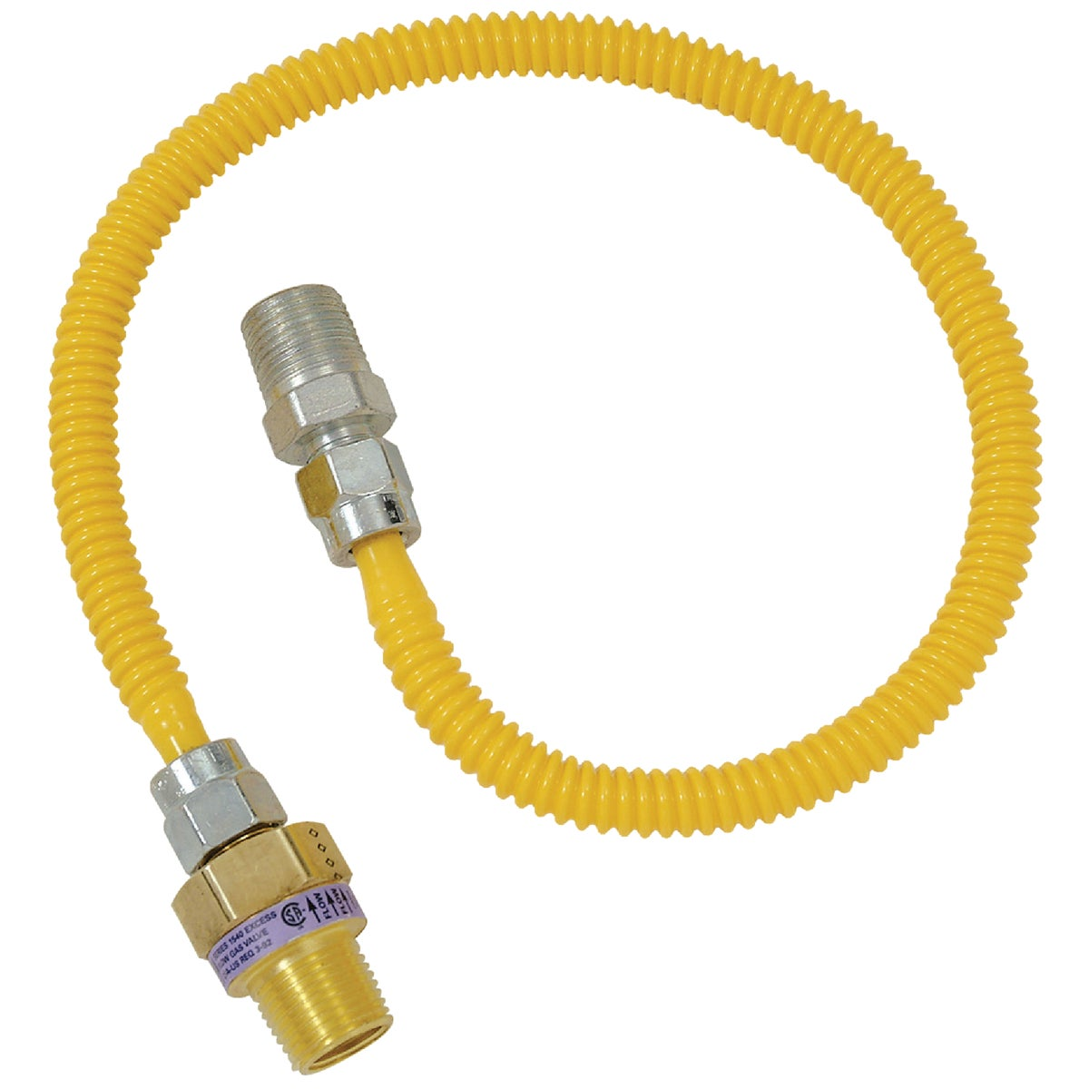 1/2X3/8-24 GAS CONNECTOR - CSSL44E-24P by Brass Craft