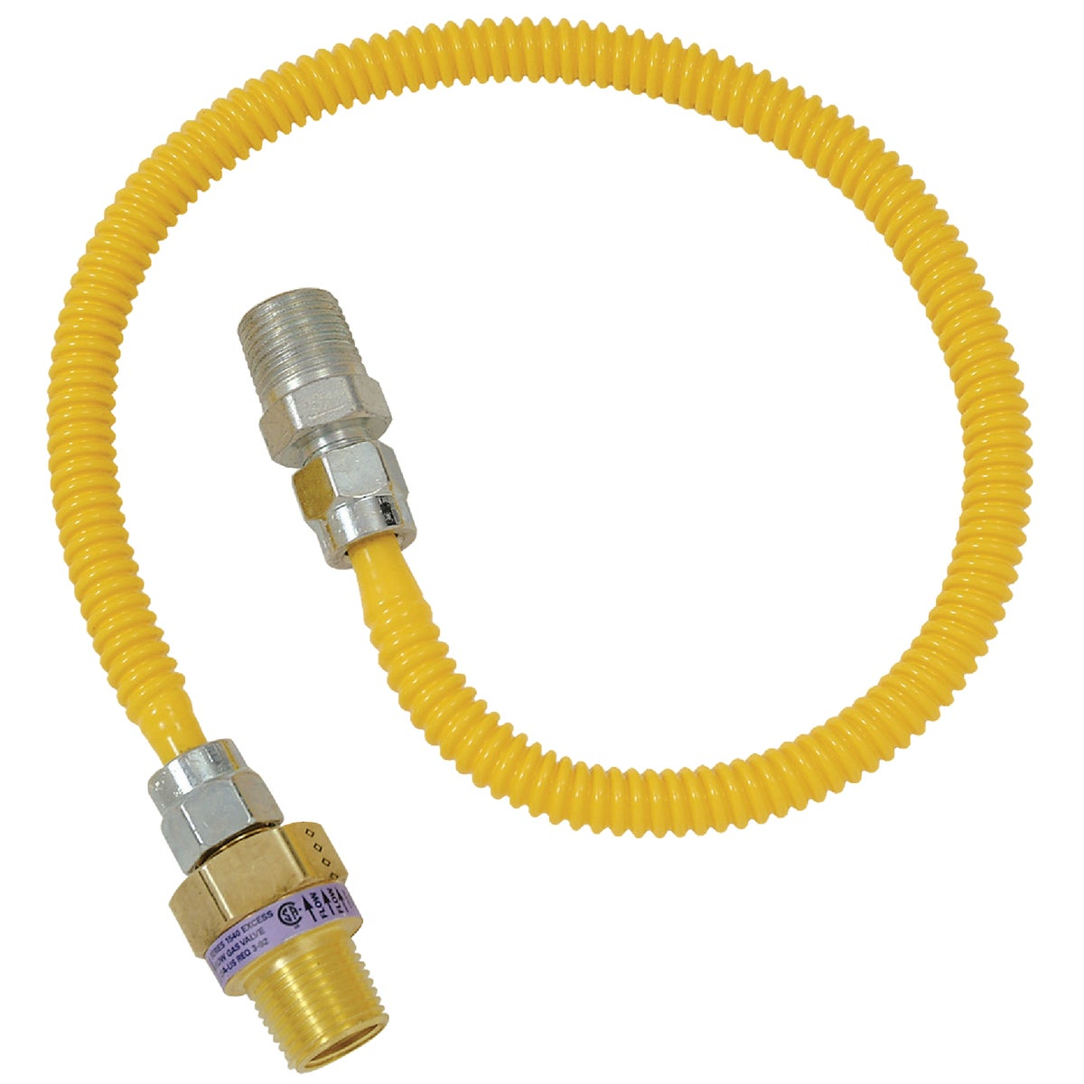1/2X3/8-36 GAS CONNECTOR - CSSL44E-36P by Brass Craft