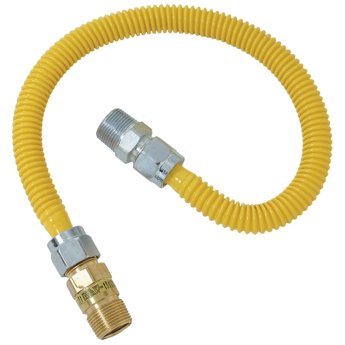 1/2X1/2-24 GAS CONNECTOR - CSSC44E-24P by Brass Craft