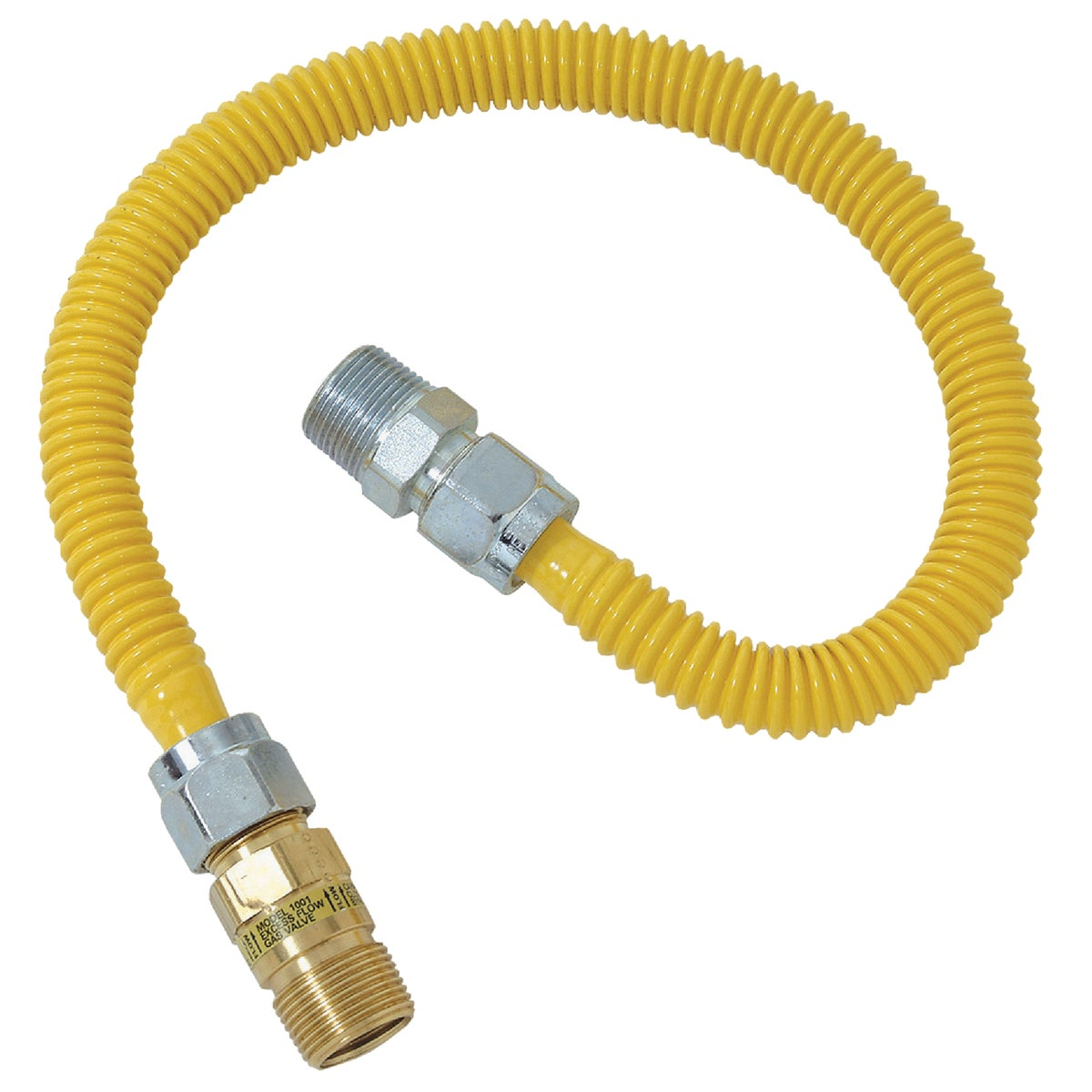 1/2X1/2-36 GAS CONNECTOR - CSSC44E-36P by Brass Craft