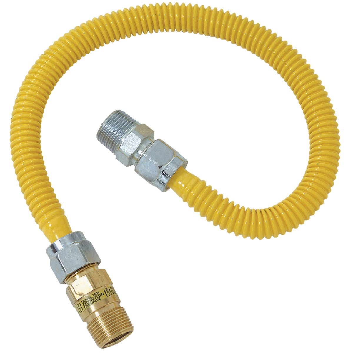 1/2X1/2-48 GAS CONNECTOR - CSSC44E-48P by Brass Craft