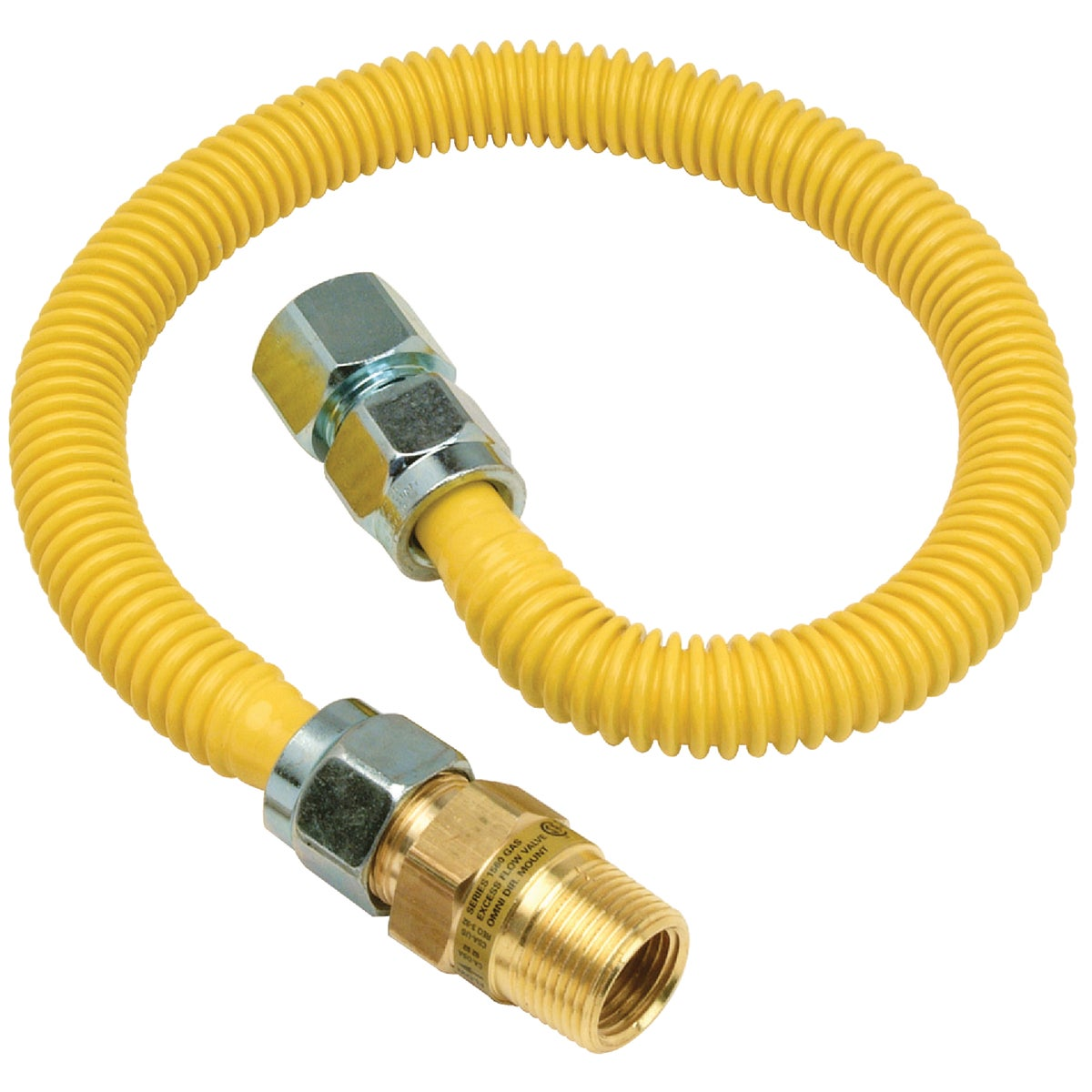 3/4X3/4-48 GAS CONNECTOR - CSSC12E-48P by Brass Craft