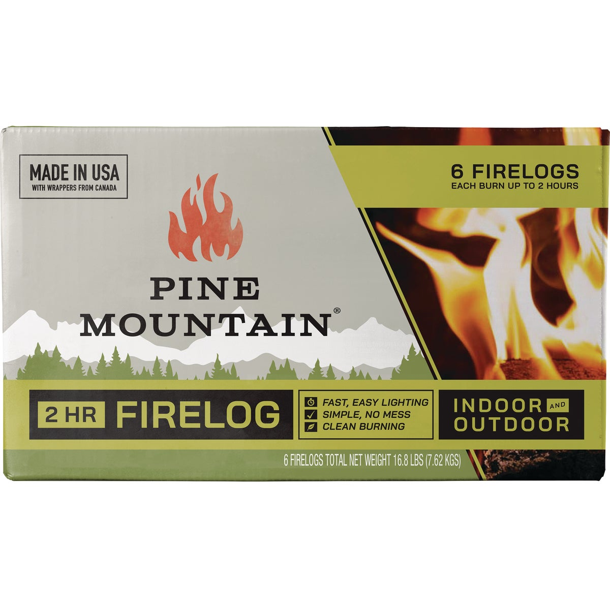 2 HOUR FIRE LOG - 4152501201 by Pine Mountain Corp