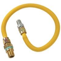 """1/2"""" O.D. Gas Connector - 1/2"""" M.I.P. Safety+PLUS x 1/2"""" M.I.P, CSSD44R-18P"""