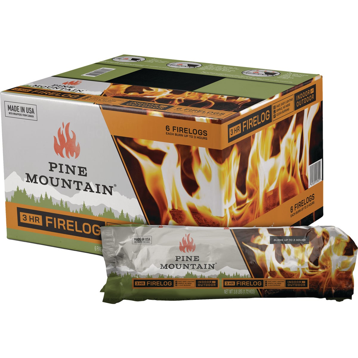 Pine Mountain 3 HOUR FIRE LOG 4152501301