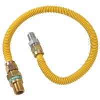 """1/2"""" O.D. Gas Connector - 1/2"""" M.I.P. Safety+PLUS x 1/2"""" M.I.P, CSSD44R-36P"""