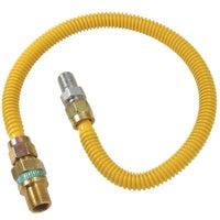 """1/2"""" O.D. Gas Connector - 1/2"""" M.I.P. Safety+PLUS x 1/2"""" M.I.P, CSSD44R-48P"""