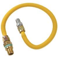 """1/2"""" O.D. Gas Connector - 1/2"""" M.I.P. Safety+PLUS x 1/2"""" M.I.P, CSSD44R-60P"""