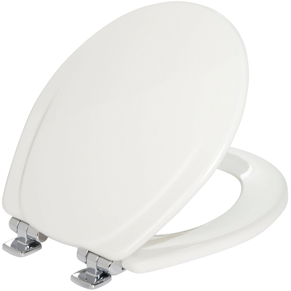 WHT RND WOOD TOILET SEAT - 30CHSL-000 by Bemis Mfg