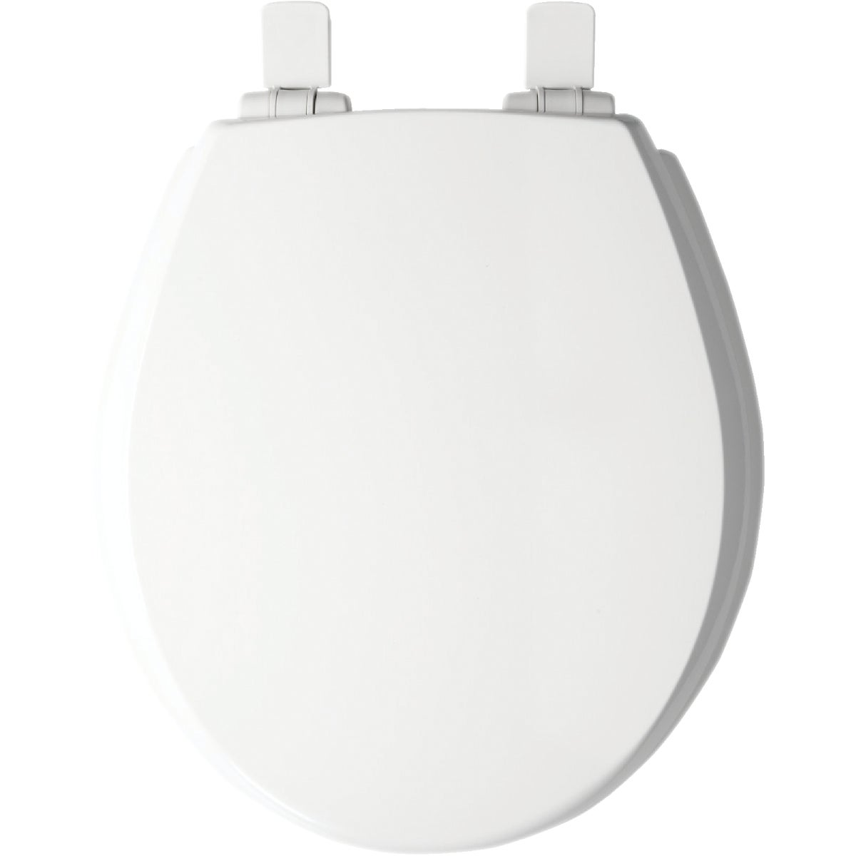 WHT RND WOOD TOILET SEAT - 48E2-000 by Bemis Mfg