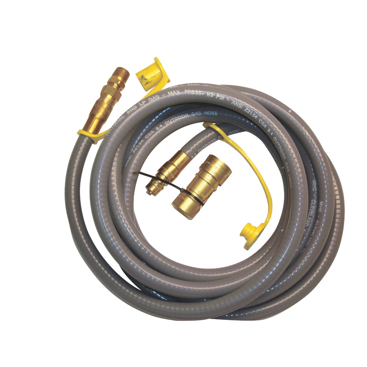Mr. Heater 12 Foot Natural Gas and Propane Gas Hose Assembly 3/8 Inch Female ...