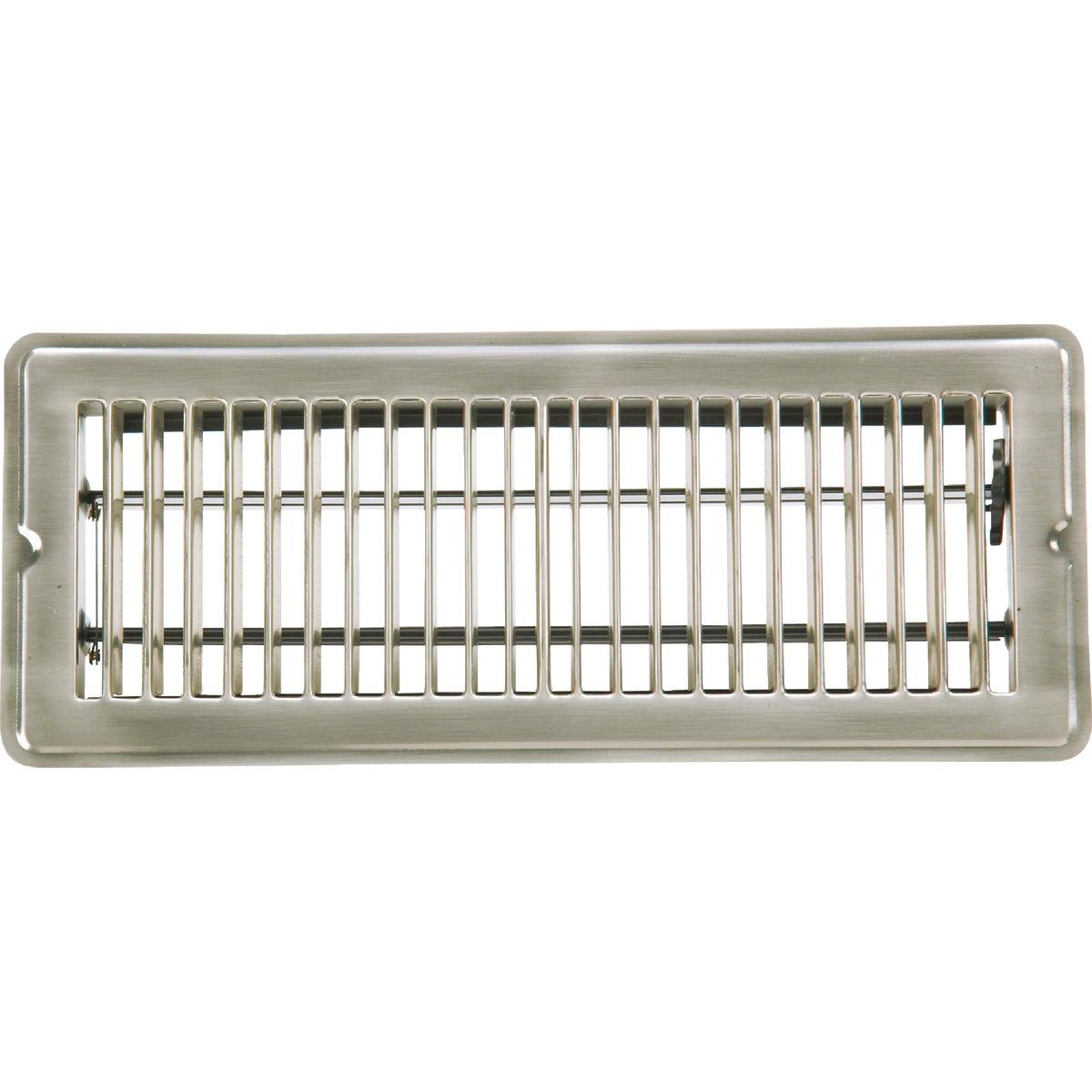 Home Impressions Stamped Brass Floor Register, 1FL0412SN-NH