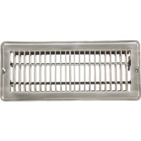 Home Impressions Stamped Brass Floor Register, 1FL0410SN-NH