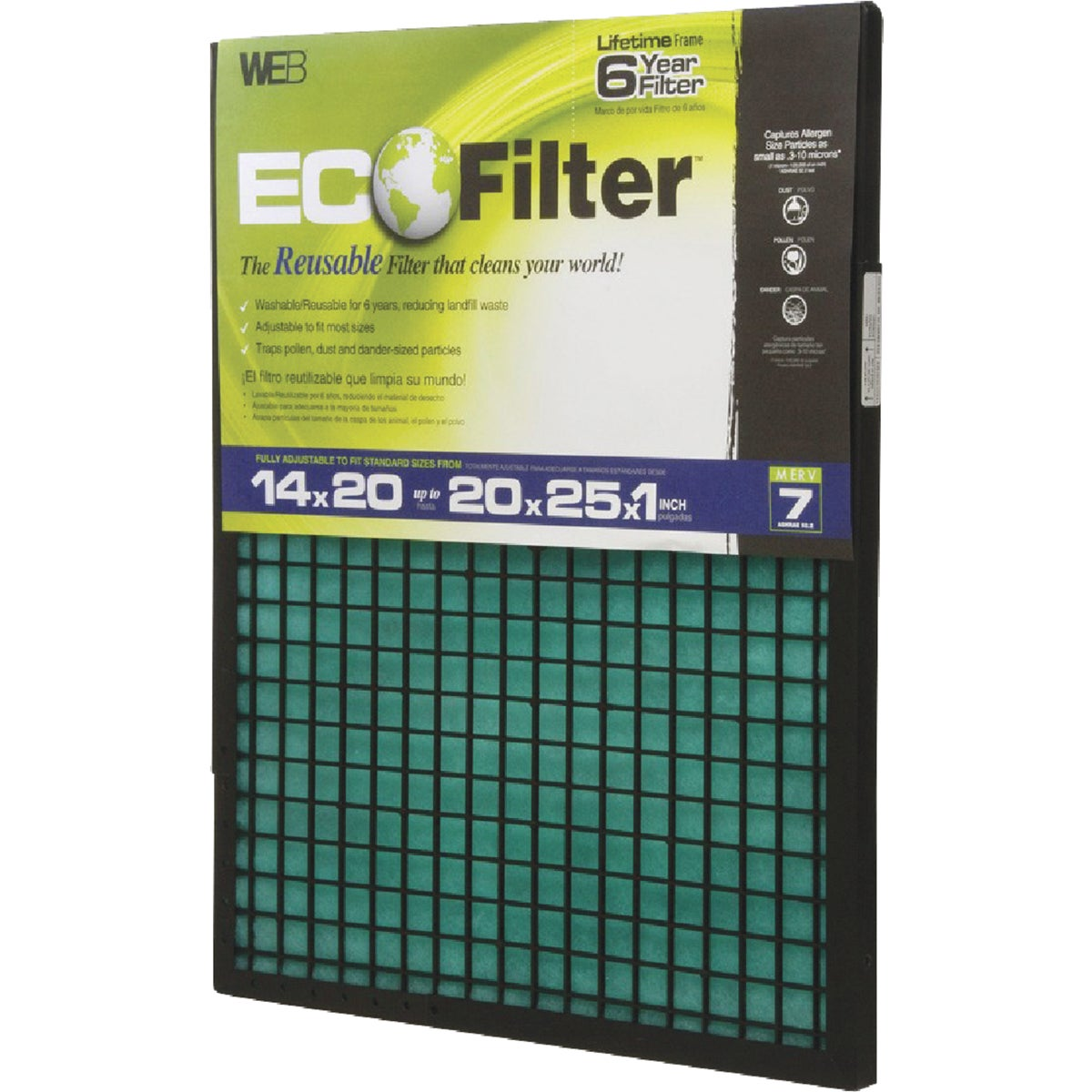 5YR ECO ADJST AIR FILTER - WECO-4PK by Web Products Inc