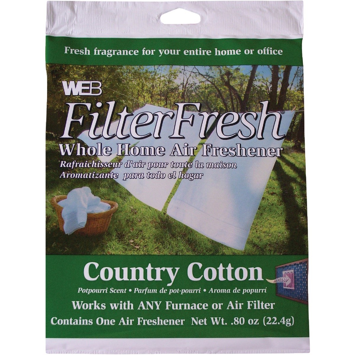 FILTER FRESH FRAGRANCE - WCOTTON by Web Products Inc