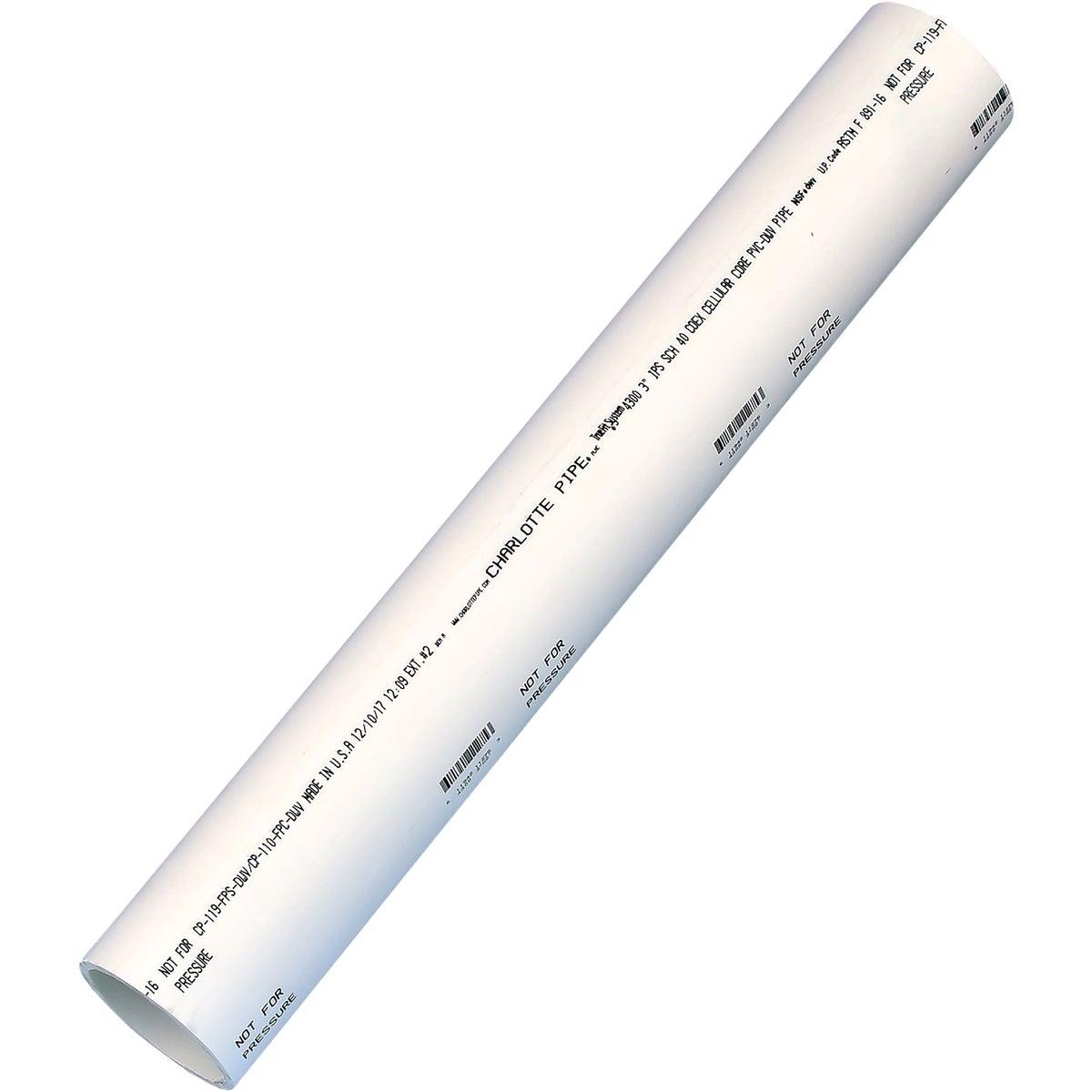 """3""""X2' DWV 40 PVC PIPE"""