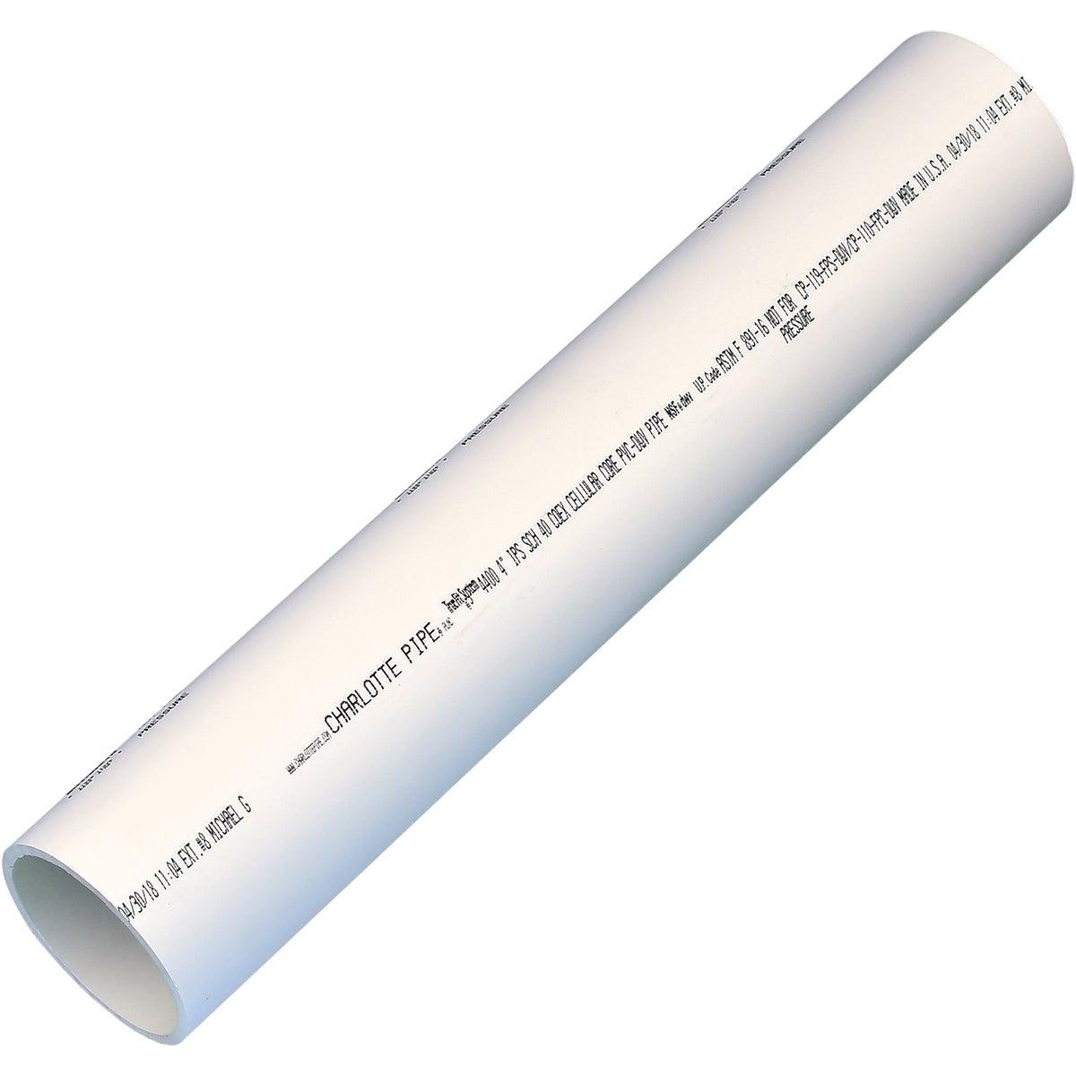"""4""""X2' DWV 40 PVC PIPE - 700412F by Genova Inc"""