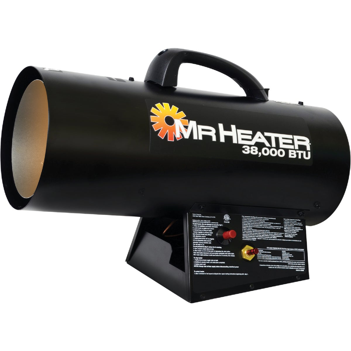 40K LP FORCED AIR HEATER - GFA40 by World Marketing