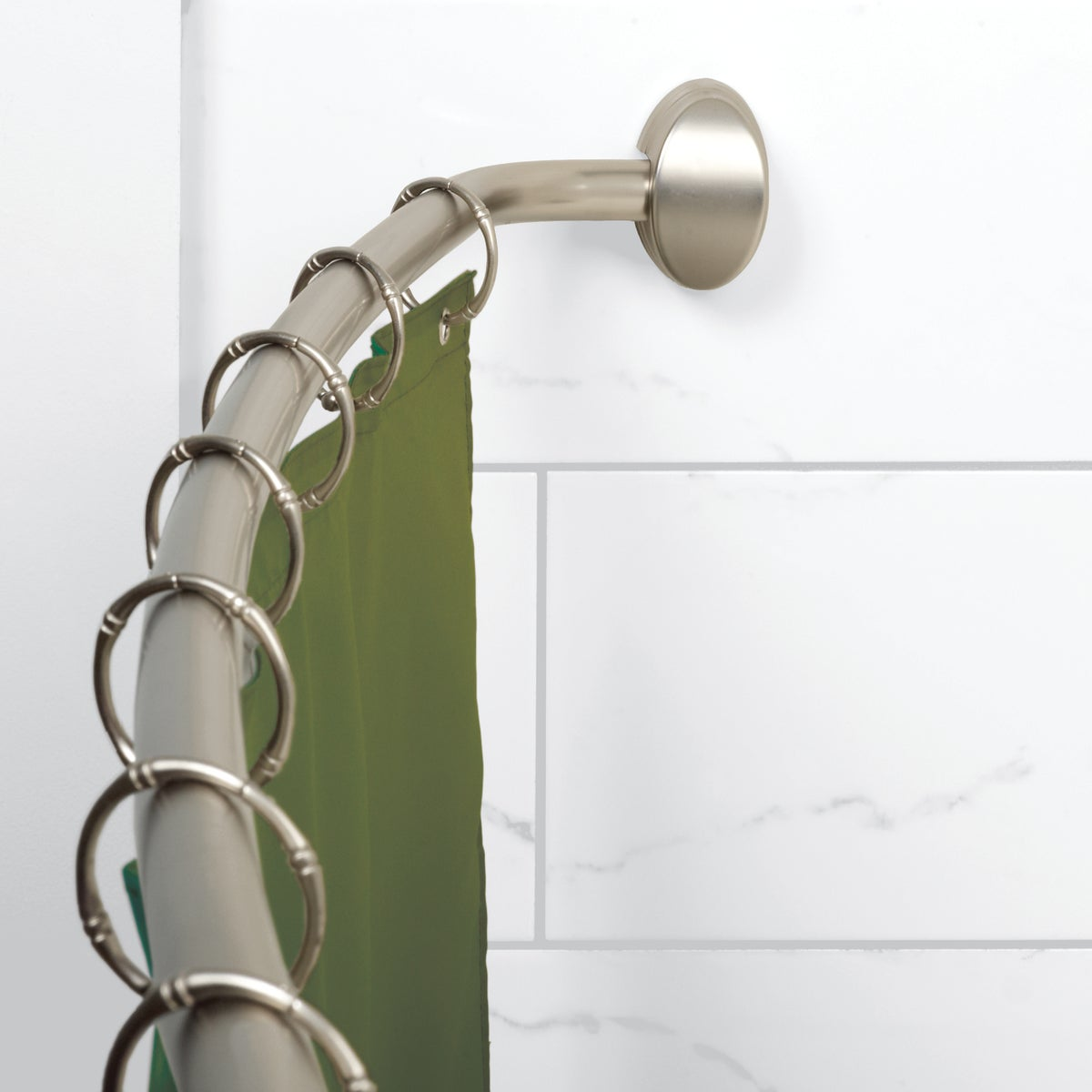 BN CURVED ADJ SHOWER ROD