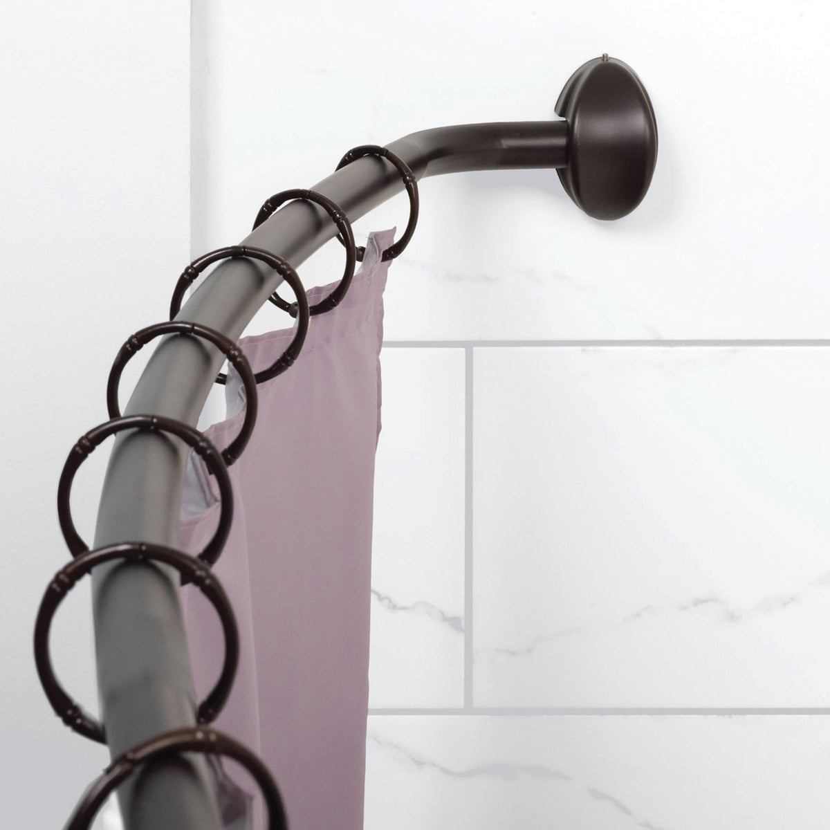 HB CURVED ADJ SHOWER ROD