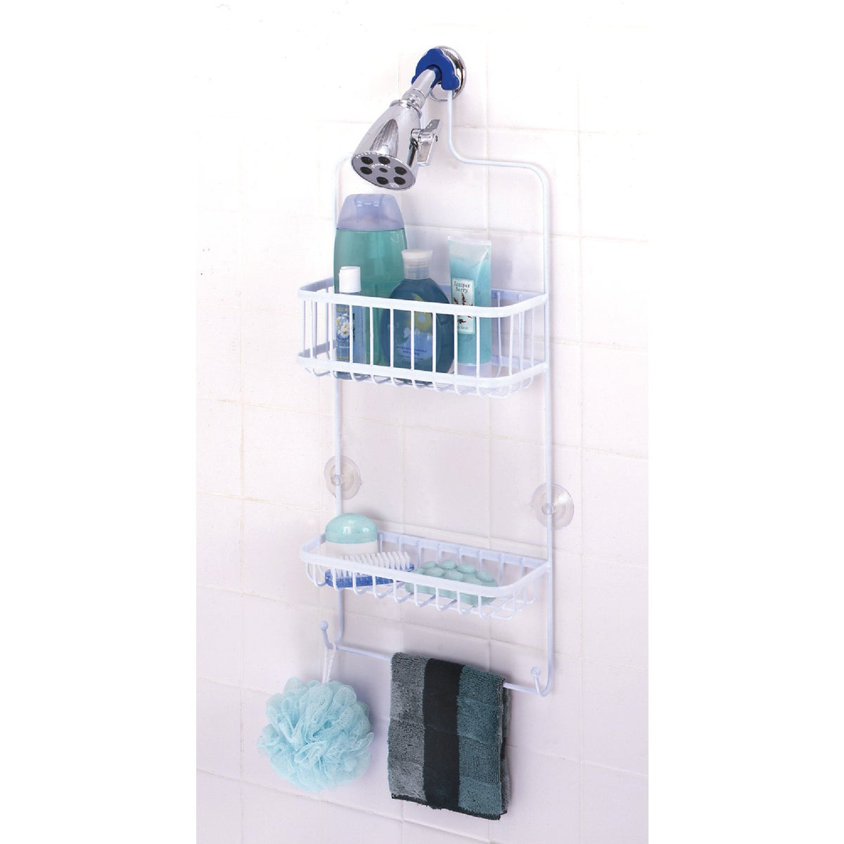 WHITE SHOWER HEAD CADDY - 7617WW by Zenith Prod Corp