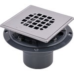 Square Tile Shower Drain With Strainer