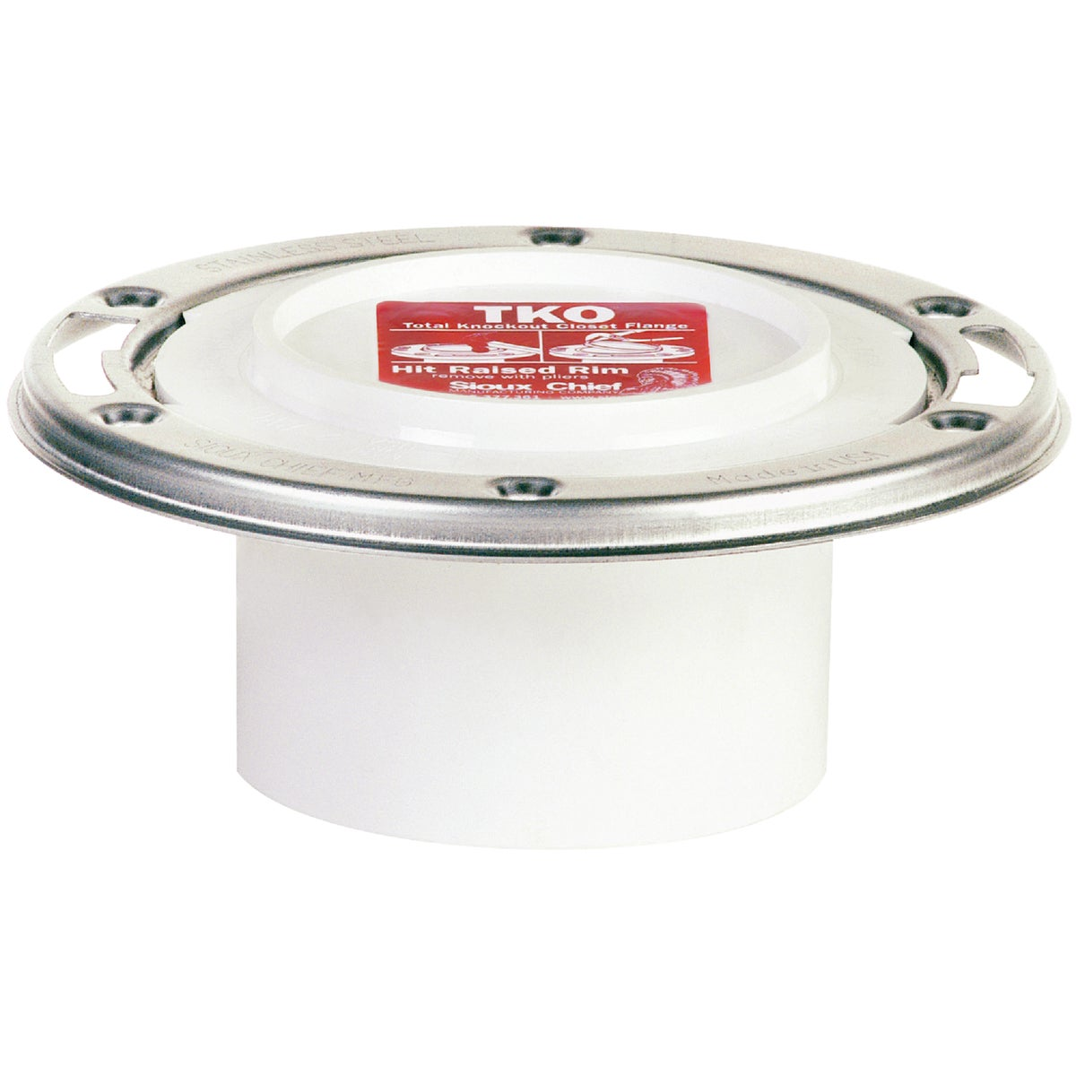 4X3 SS K/O PVC CL FLANGE - 884-PTM by Sioux Chief Mfg