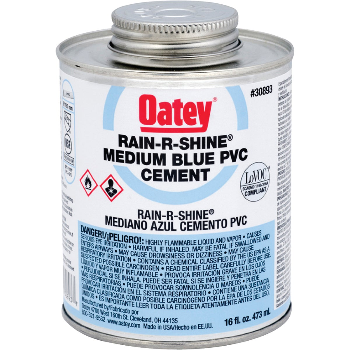 PINT WET PVC CEMENT - 30893 by Oatey Scs