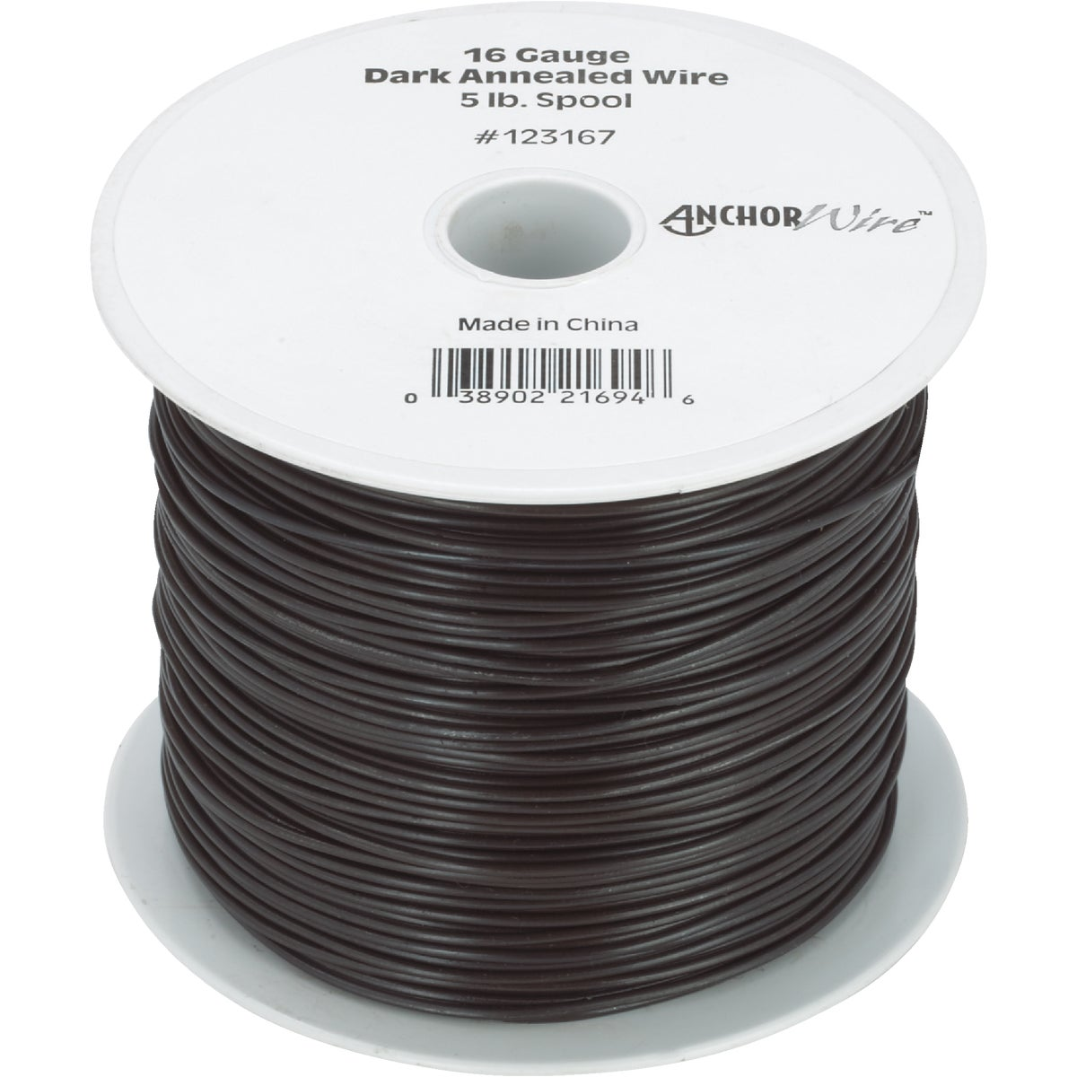 5LB 16G BLACK WIRE - 123167 by Hillman Fastener